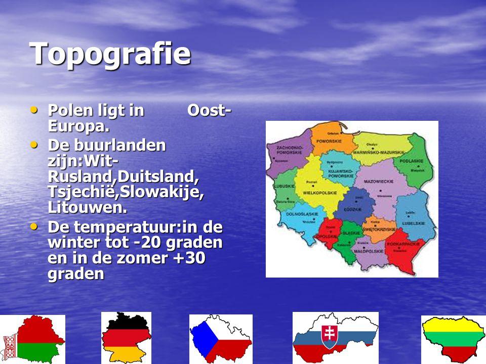 Topografie Polen ligt in Oost-Europa.