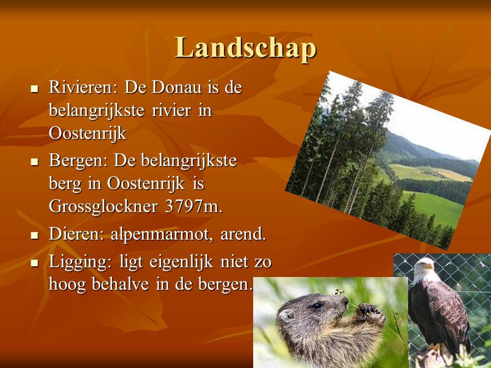 Landschap Rivieren: De Donau is de belangrijkste rivier in Oostenrijk
