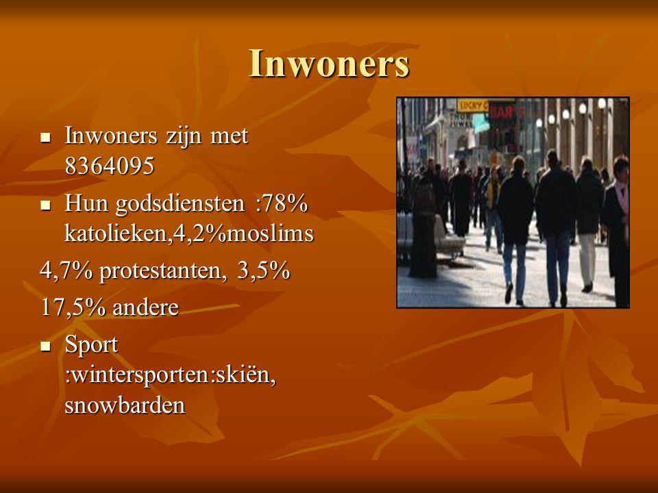 Inwoners Inwoners zijn met 8364095