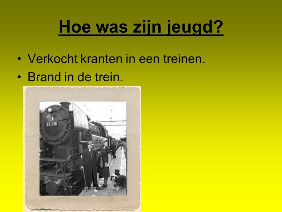 Hoe was zijn jeugd Verkocht kranten in een treinen.
