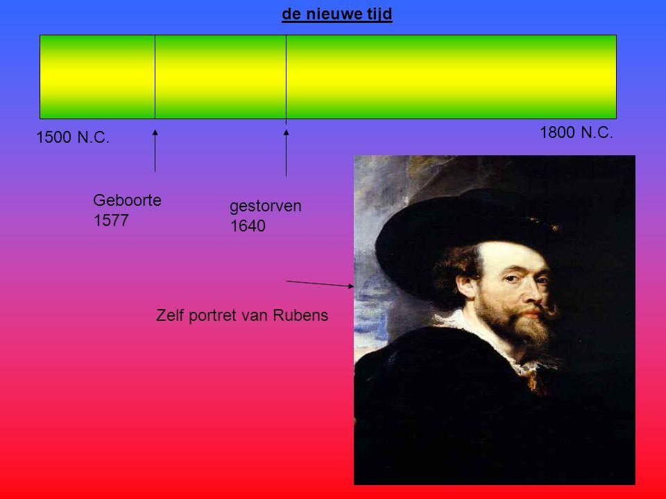 de nieuwe tijd 1800 N.C. 1500 N.C. Geboorte 1577 gestorven1640 Zelf portret van Rubens