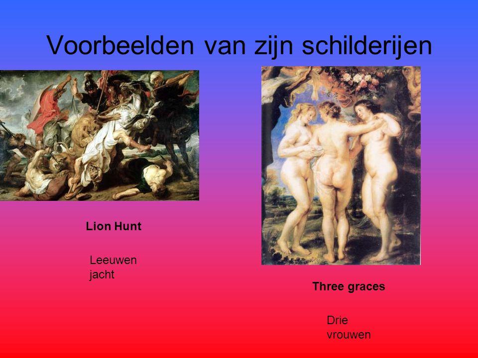 Voorbeelden van zijn schilderijen