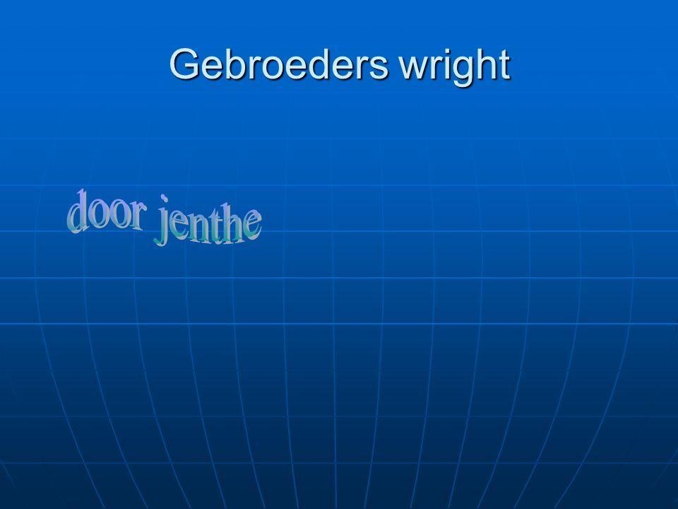 Gebroeders wright door jenthe