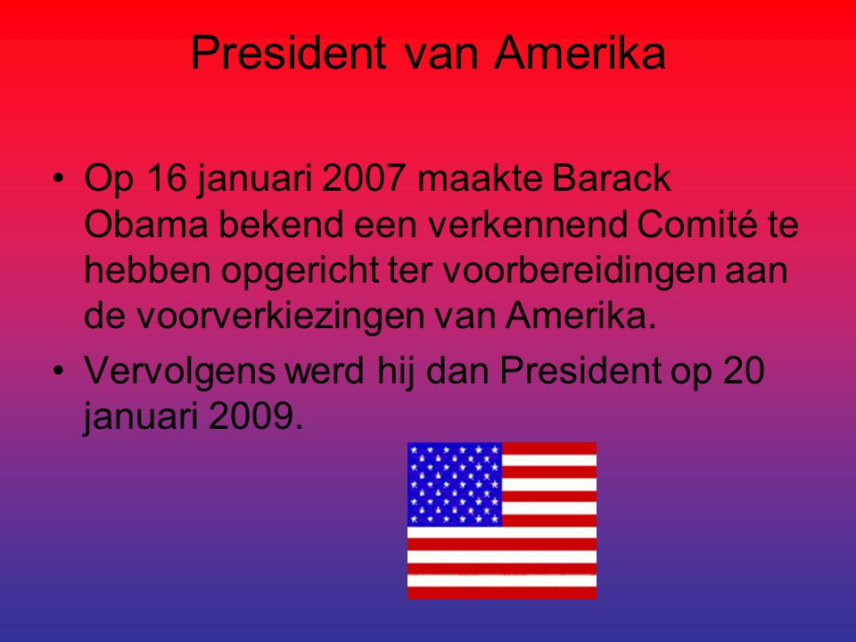 President van Amerika