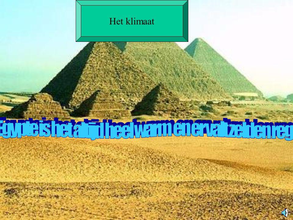 In Egypte is het altijd heel warm en er valt zelden regen
