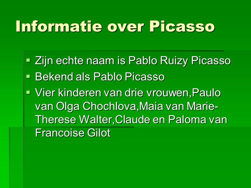 Informatie over Picasso
