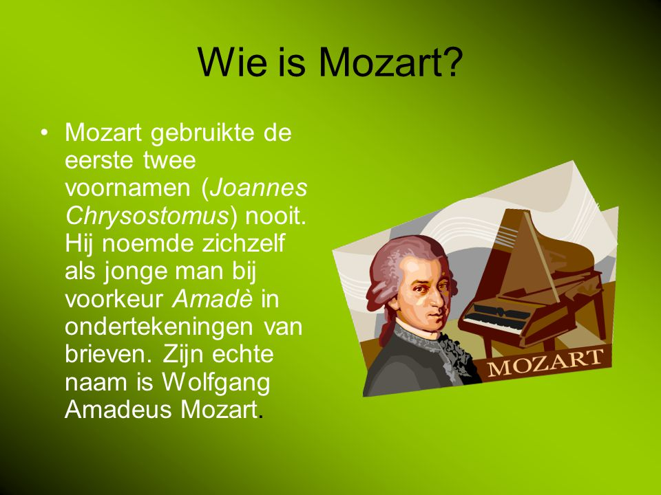 Wie is Mozart