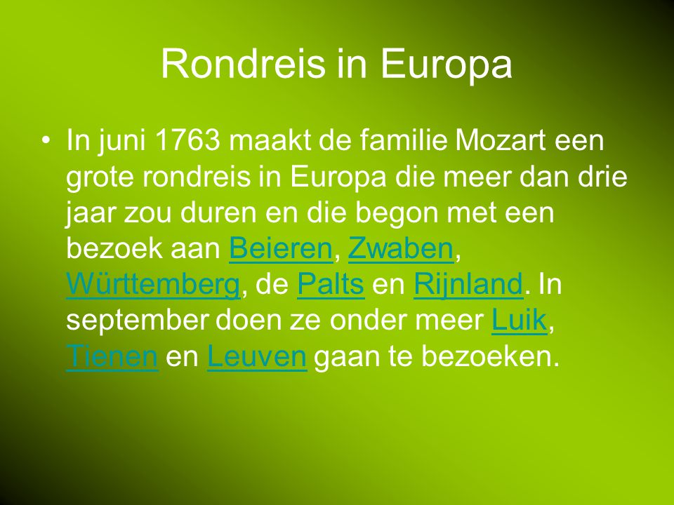 Rondreis in Europa