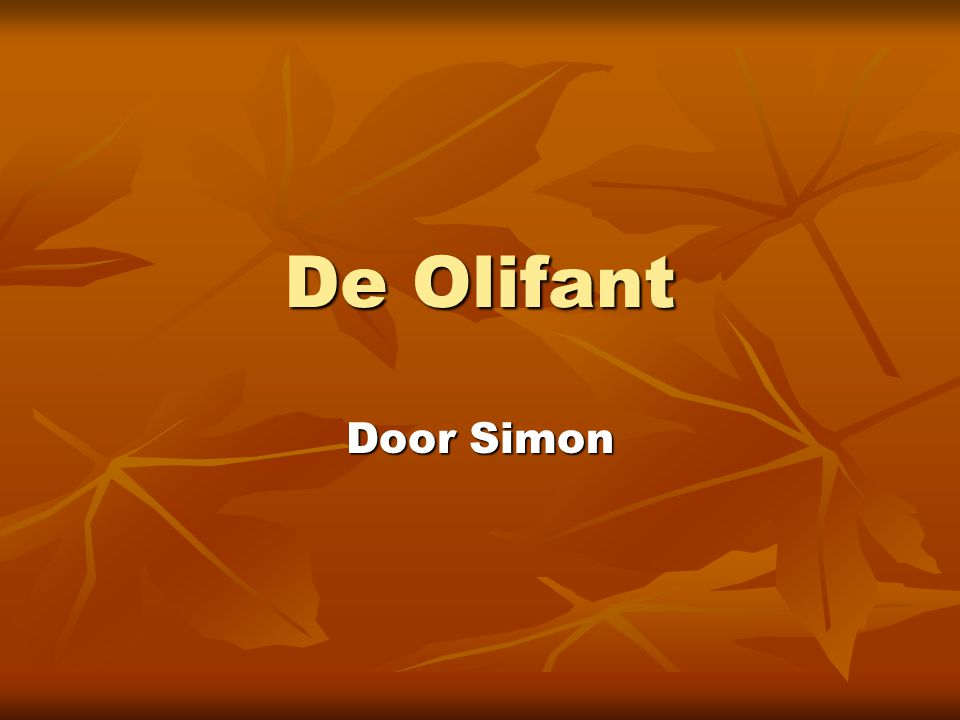 De Olifant Door Simon