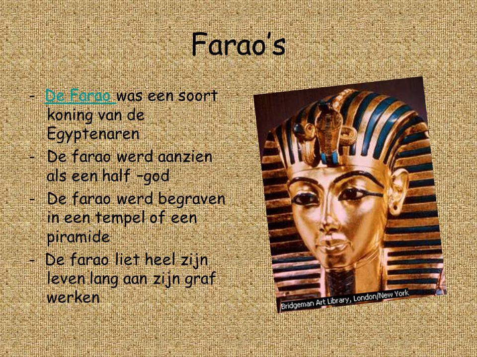 Farao's - De Farao was een soort koning van de Egyptenaren