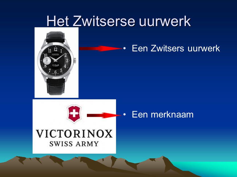 Het Zwitserse uurwerk Een Zwitsers uurwerk Een merknaam