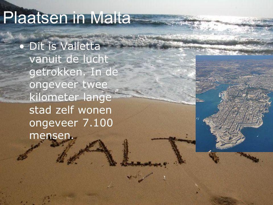 Plaatsen in Malta Dit is Valletta vanuit de lucht getrokken.