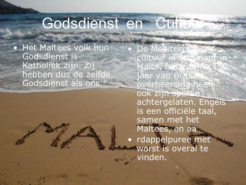 Godsdienst en Cultuur Het Maltees volk hun Godsdienst is Katholiek zijn. Zij hebben dus de zelfde Godsdienst als ons.