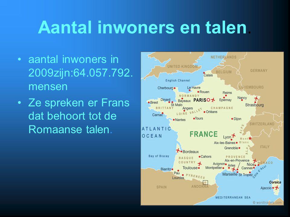 Aantal inwoners en talen.