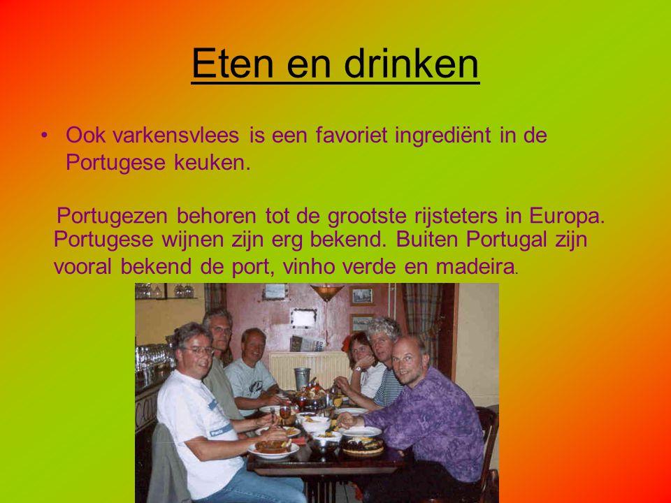 Eten en drinken Ook varkensvlees is een favoriet ingrediënt in de Portugese keuken. Portugezen behoren tot de grootste rijsteters in Europa.