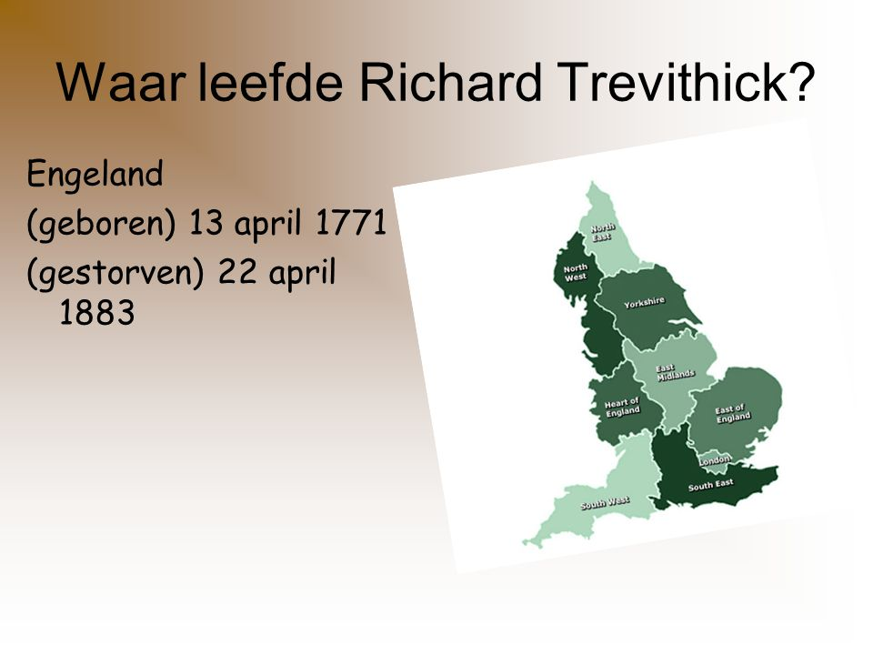 Waar leefde Richard Trevithick