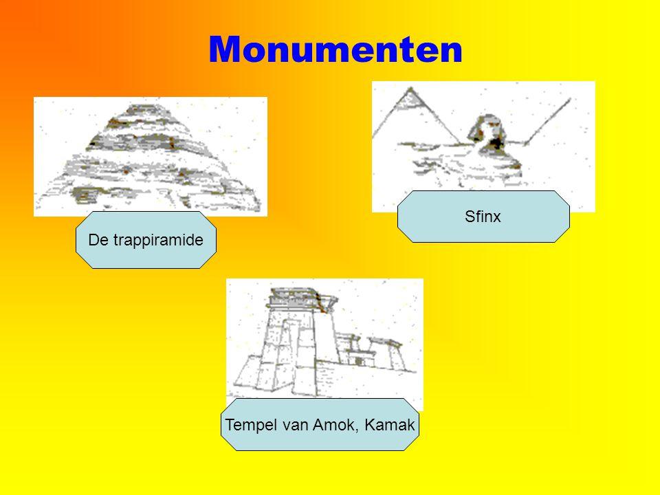 Monumenten Sfinx De trappiramide Tempel van Amok, Kamak