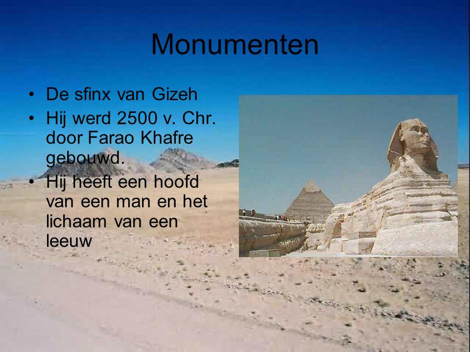 Monumenten De sfinx van Gizeh