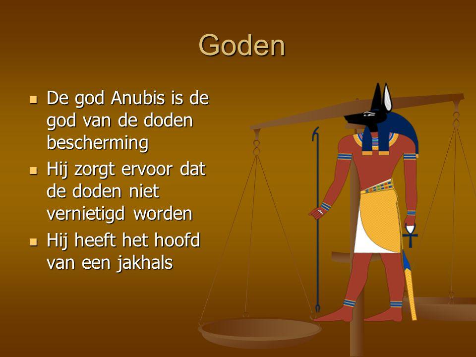 Goden De god Anubis is de god van de doden bescherming