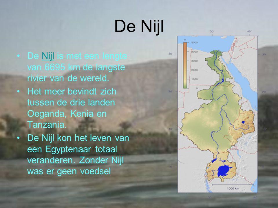 De Nijl De Nijl is met een lengte van 6695 km de langste rivier van de wereld.