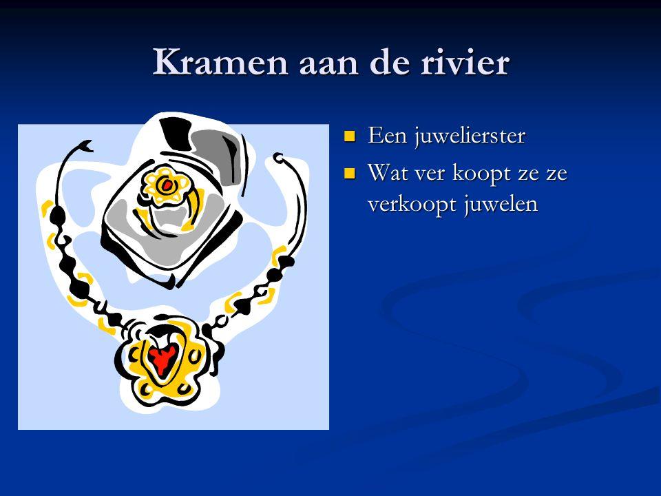 Kramen aan de rivier Een juwelierster
