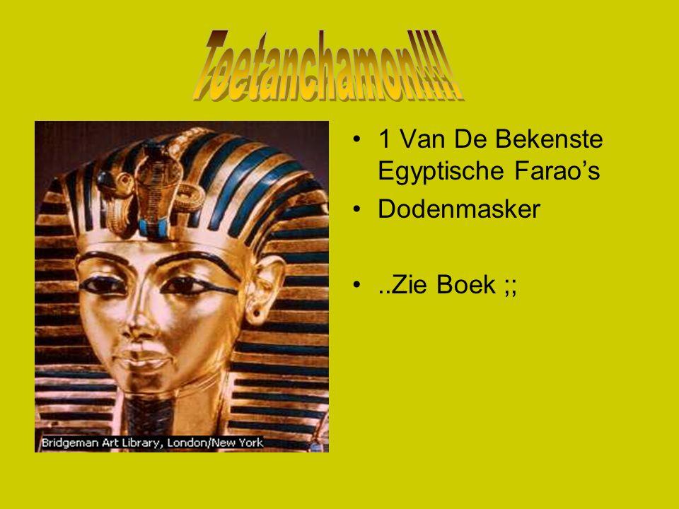 Toetanchamon!!!! 1 Van De Bekenste Egyptische Farao's Dodenmasker