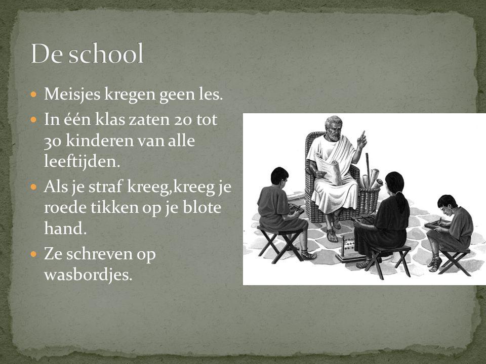 De school Meisjes kregen geen les.