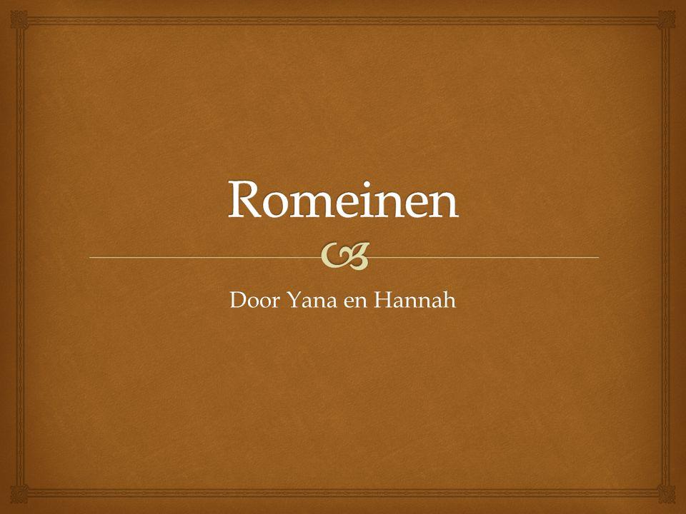 Romeinen Door Yana en Hannah
