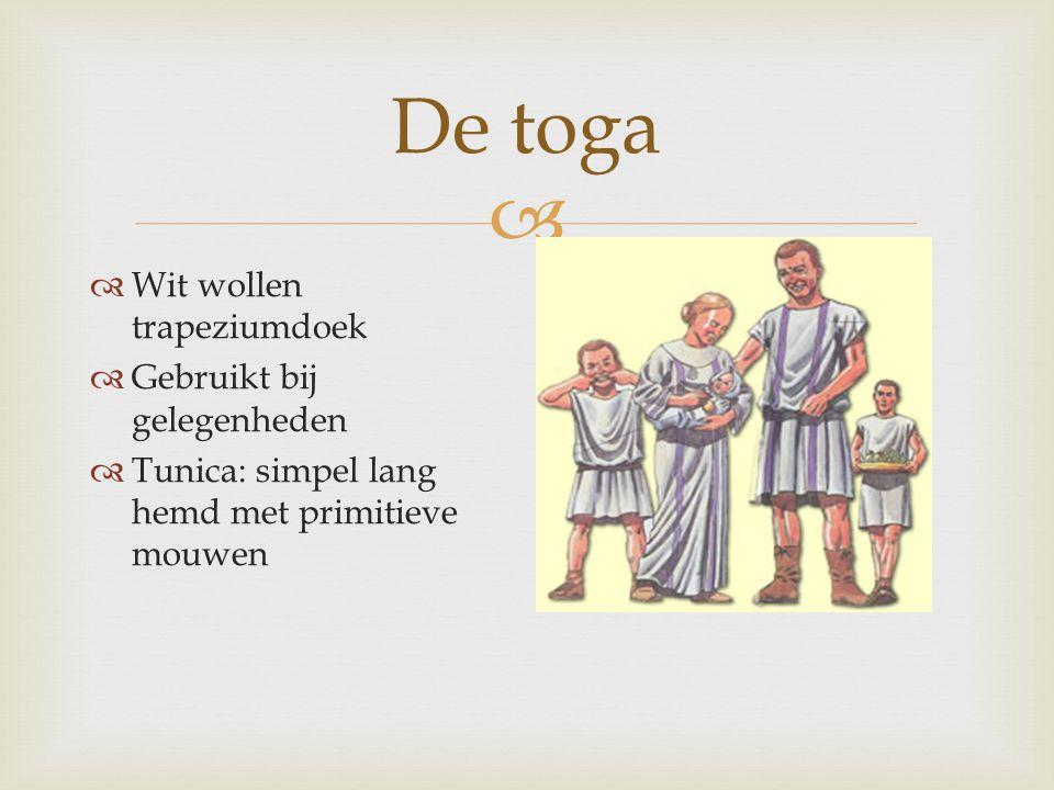 De toga Wit wollen trapeziumdoek Gebruikt bij gelegenheden