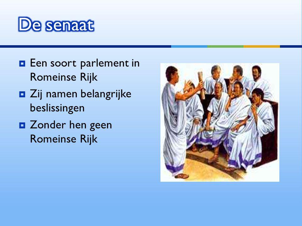 De senaat Een soort parlement in Romeinse Rijk