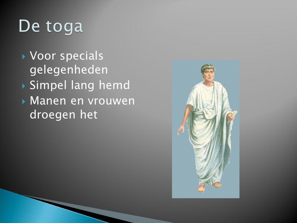 De toga Voor specials gelegenheden Simpel lang hemd