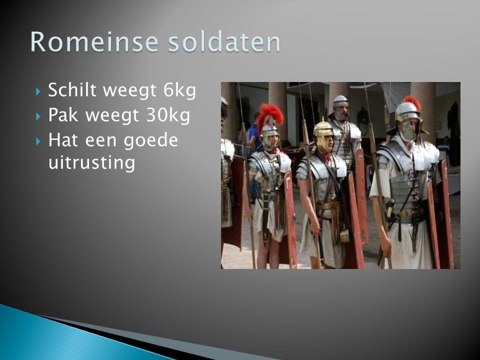 Romeinse soldaten Schilt weegt 6kg Pak weegt 30kg