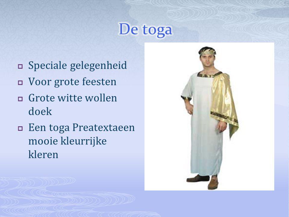De toga Speciale gelegenheid Voor grote feesten