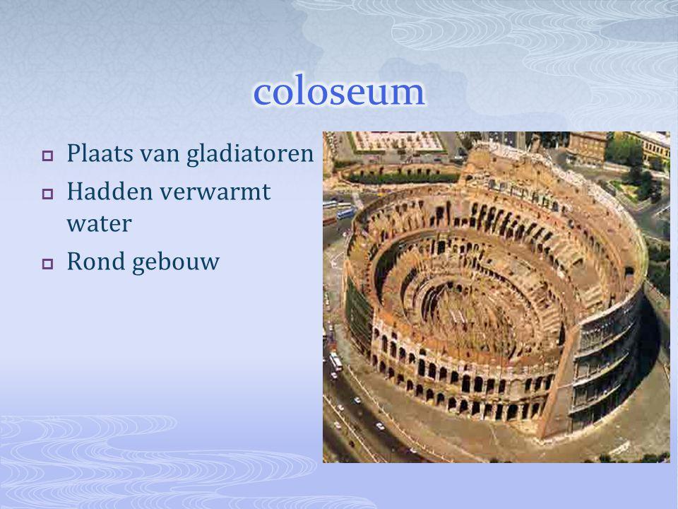coloseum Plaats van gladiatoren Hadden verwarmt water Rond gebouw