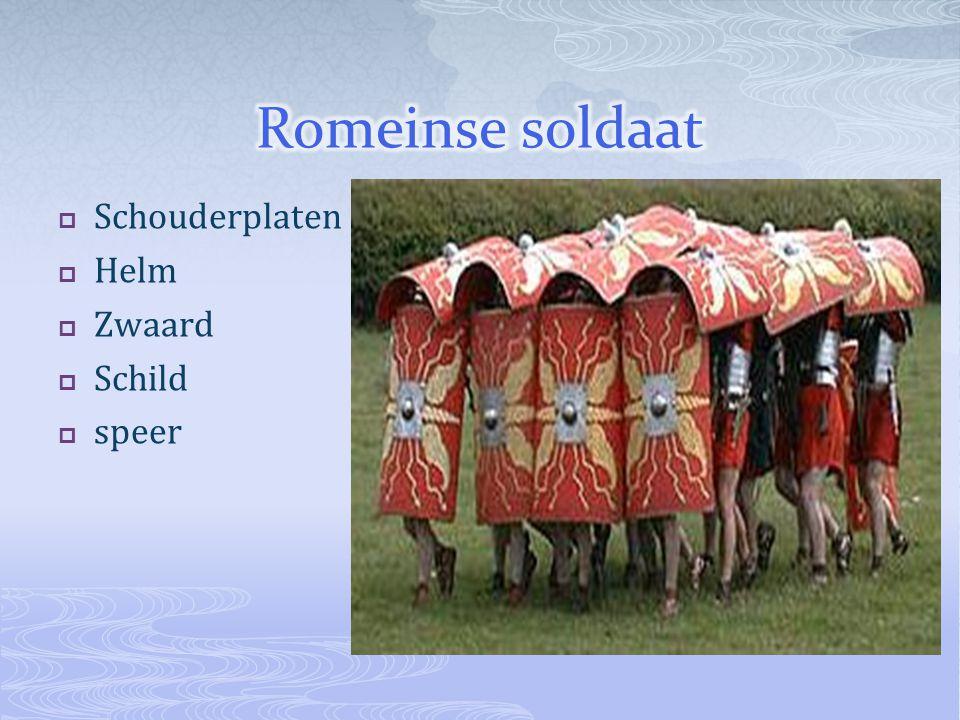 Romeinse soldaat Schouderplaten Helm Zwaard Schild speer