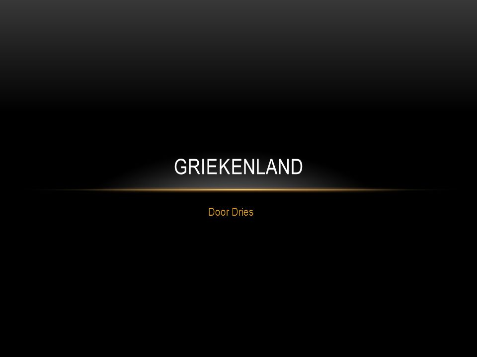 Griekenland Door Dries