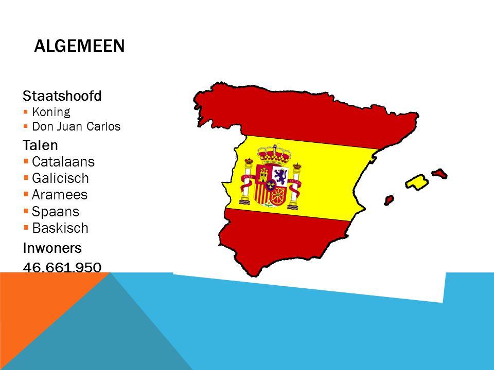Algemeen Staatshoofd Talen Catalaans Galicisch Aramees Spaans Baskisch