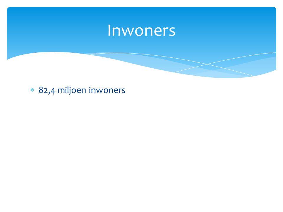 Inwoners 82,4 miljoen inwoners