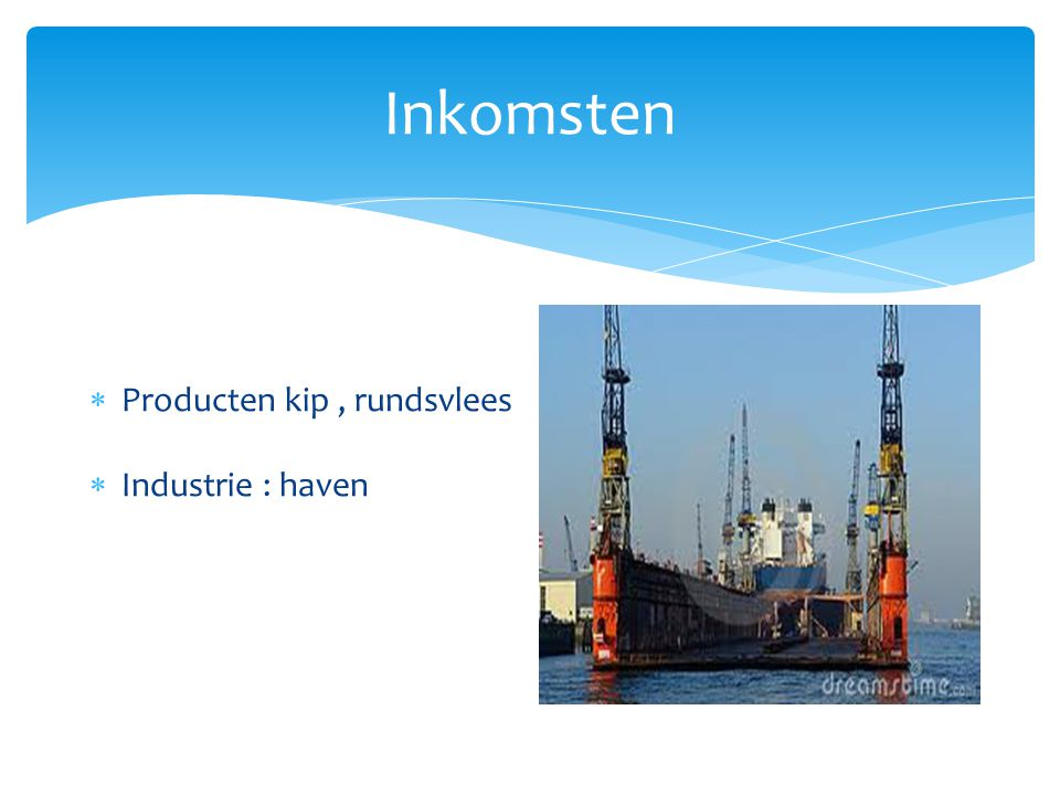 Inkomsten Producten kip , rundsvlees Industrie : haven