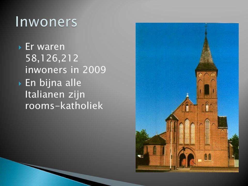 Inwoners Er waren 58,126,212 inwoners in 2009