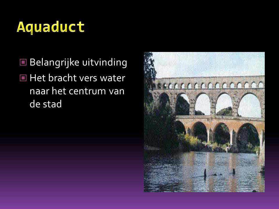 Aquaduct Belangrijke uitvinding