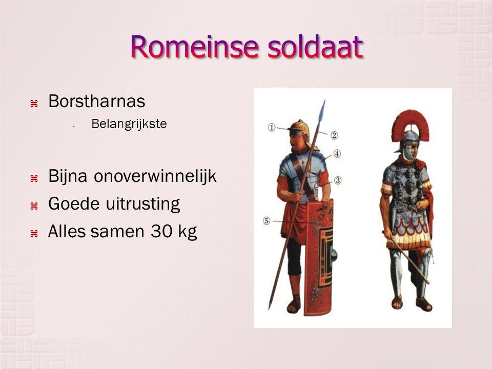 Romeinse soldaat Borstharnas Bijna onoverwinnelijk Goede uitrusting