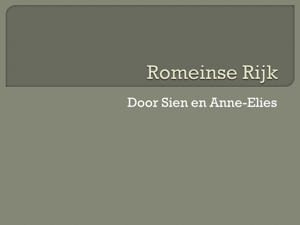 Door Sien en Anne-Elies