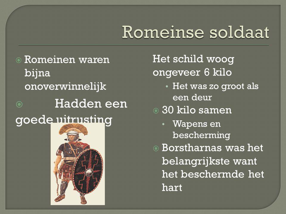 Romeinse soldaat Hadden een goede uitrusting