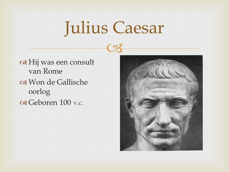 Julius Caesar Hij was een consult van Rome Won de Gallische oorlog