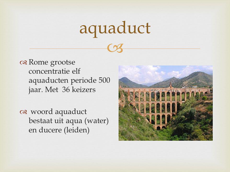 aquaduct Rome grootse concentratie elf aquaducten periode 500 jaar.