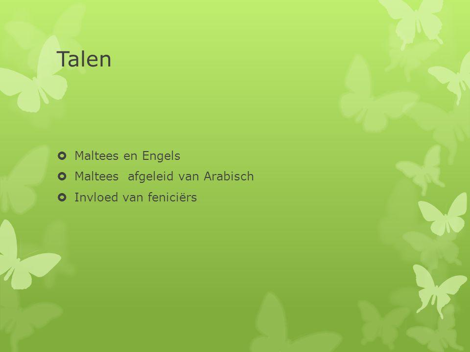 Talen Maltees en Engels Maltees afgeleid van Arabisch
