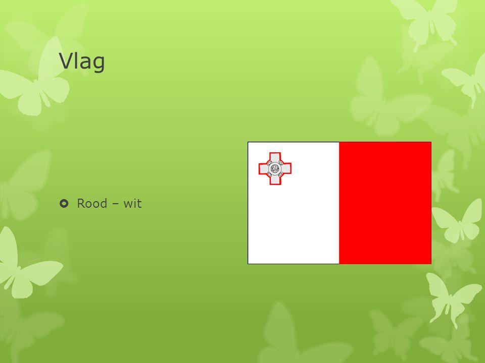 Vlag Rood – wit De vlag van Malta bestaad uit twee kleuren rood en wit ,