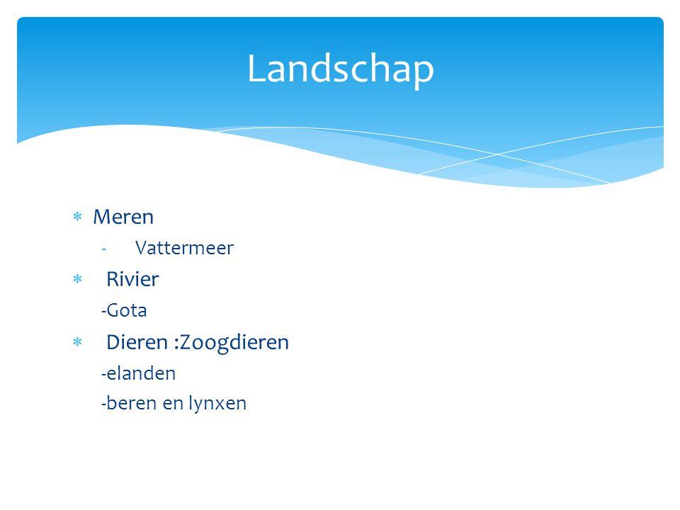 Landschap Meren Rivier Dieren :Zoogdieren Vattermeer -Gota -elanden