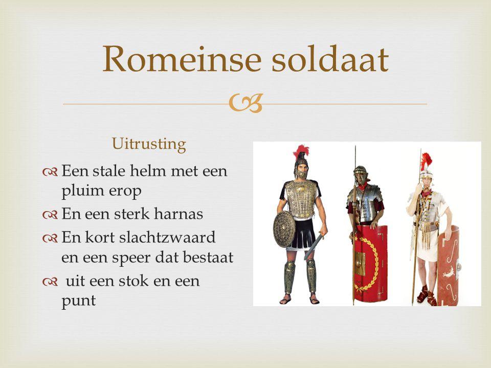 Romeinse soldaat Uitrusting Een stale helm met een pluim erop
